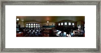 Union  Illinois One Room School House Framed Print