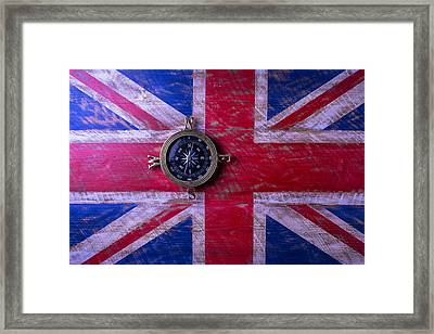 Union Jack And Compass Framed Print
