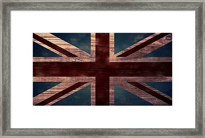 Union Jack I Framed Print by April Moen