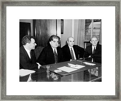 Union Leaders Framed Print by Underwood Archives