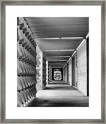 Union Pacific 1 Bw Palm Springs Framed Print by William Dey