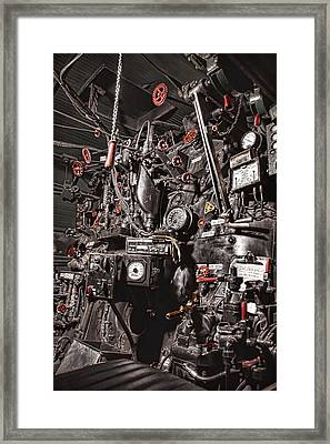Union Pacific 844 Backhead Detail Framed Print by Ken Smith