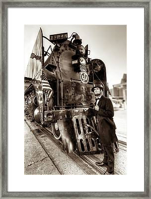 Framed Print featuring the photograph Union Pacific 844 by Tim Stanley