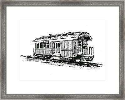 Union Pacific Combine Car Framed Print
