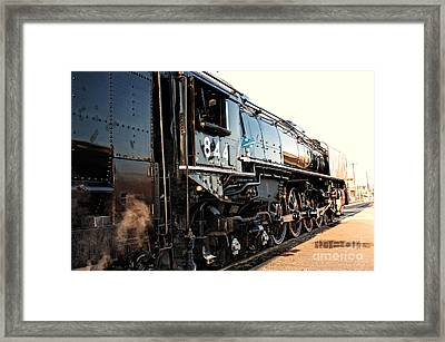 Framed Print featuring the photograph Union Pacific Engine #844 by Vinnie Oakes