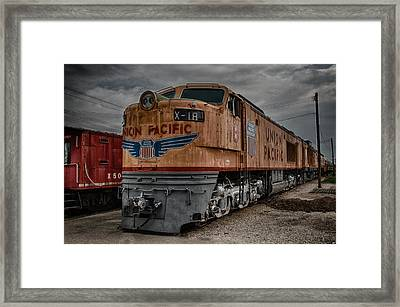 Union Pacific Engine Framed Print by Mike Burgquist