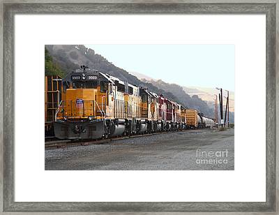 Union Pacific Locomotive Trains . 7d10563 Framed Print
