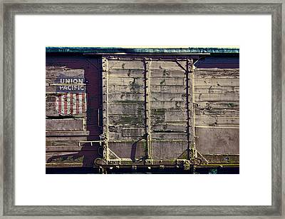 Union Pacific R R Boxcar Framed Print by Daniel Hagerman