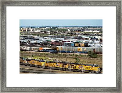 Union Pacific Railroad's Bailey Yard Framed Print