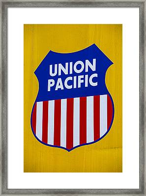 Union Pacific Raolroad Sign Framed Print
