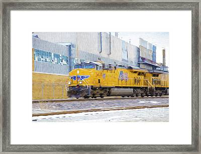 Union Pacific Train In K C M O Framed Print