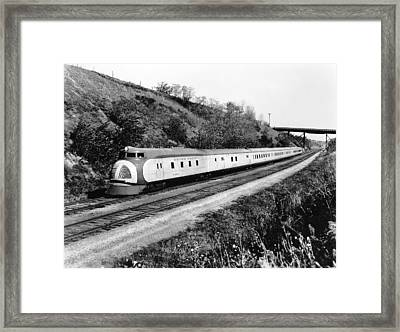 Union Pacific's Streamliner Framed Print