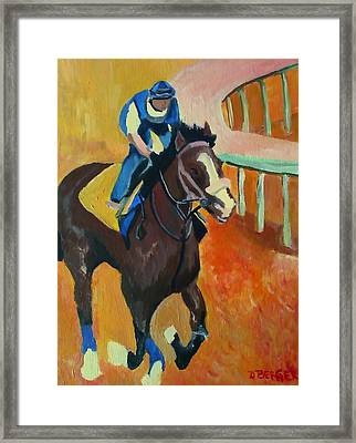 Union Rags Kentucky Derby  Framed Print by Darlene Berger