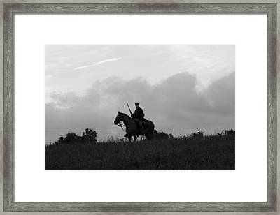 Union Scout On Webster's Hill - Perryville Ky Framed Print