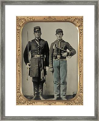 Union Soldiers Framed Print by Gary Grayson