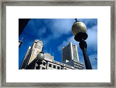 Union Square Lampposts Framed Print
