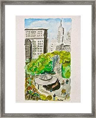 Union Square Framed Print by Natey Freedman