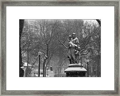 Union Square Park Framed Print