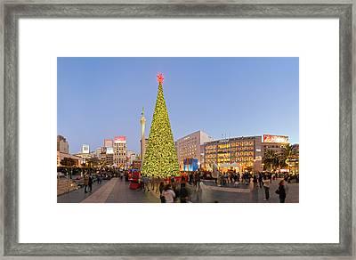 Union Square San Francisco Framed Print by David Yu