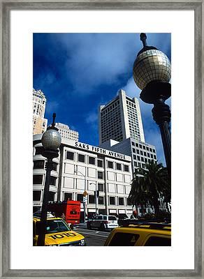 Union Square San Francisco Framed Print by Kathy Yates