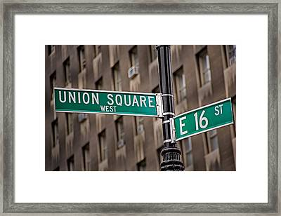 Union Square West I Framed Print by Susan Candelario