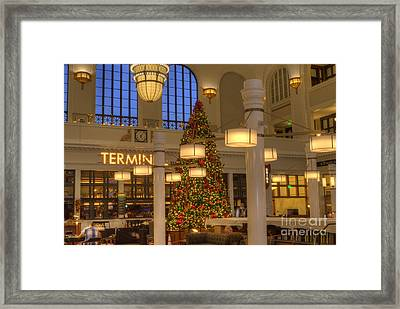 Union Station At Christmas Framed Print