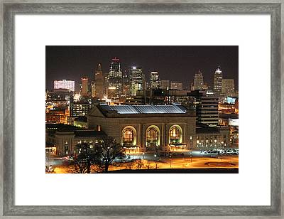 Union Station At Night Framed Print