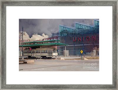 Union Station - Backside - Oil Painting Framed Print by Liane Wright