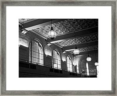 Union Station Balcony - New Haven Framed Print