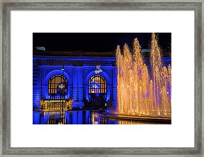 Union Station Celebrates The Royals Framed Print