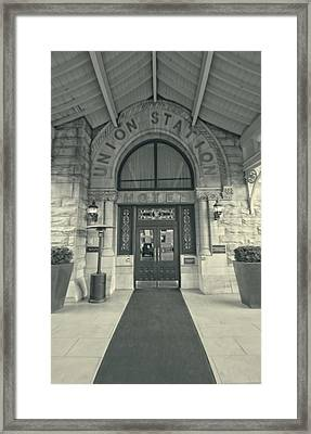 Union Station Entrance Framed Print