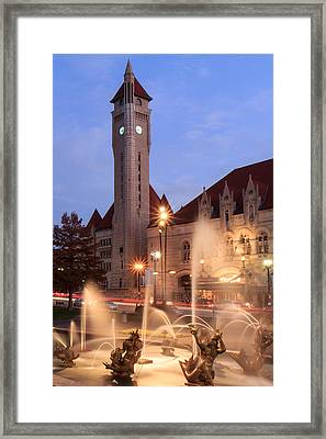 Union Station In Twilight Framed Print
