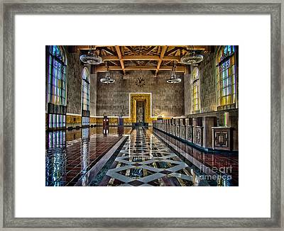 Union Station Interior- Los Angeles Framed Print