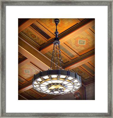 Union Station Light Fixture Framed Print