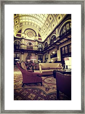 Union Station Lobby Framed Print