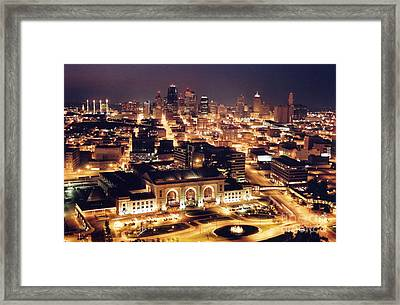Union Station Night Framed Print by Crystal Nederman