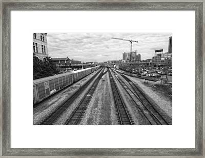 Union Station Railroad Tracks Framed Print