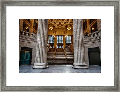 Union Station Stairs Framed Print by Mike Burgquist