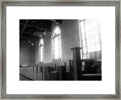 Union Station Ticketing Room Framed Print by Karyn Robinson