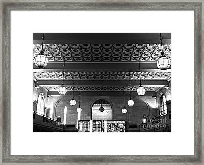Union Station Waiting - New Haven Framed Print