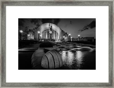 Union Terminal At Night Framed Print by Keith Allen
