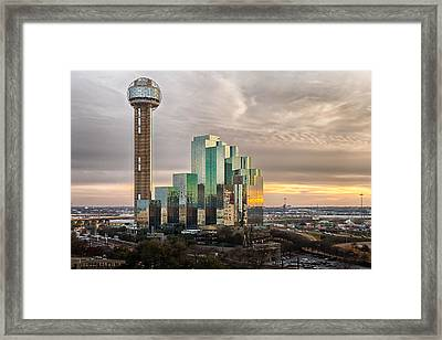 Union Tower Sunset Framed Print