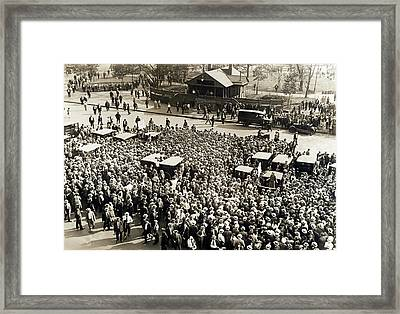 Union Workers In Union Square Framed Print