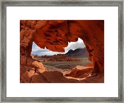 Unique Arch Nevada Framed Print by Leland D Howard