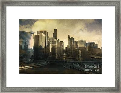 Unique Chicago Skyline Framed Print by Linda Matlow
