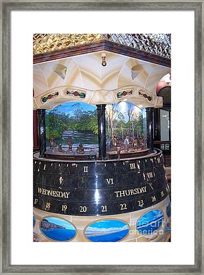 Unique Clock In Sydney Mall Framed Print by John Potts