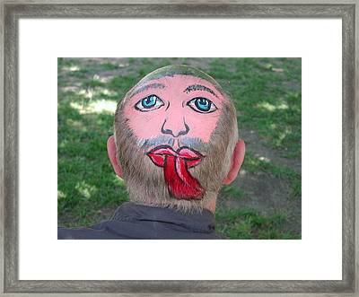 Unique Hair Piece Framed Print by Pat Knieff