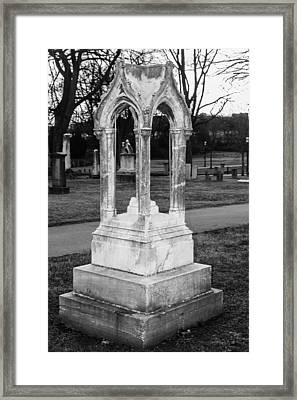 Unique Tombstone Framed Print