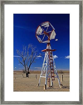 Unique Windmill Framed Print by Christopher McKenzie