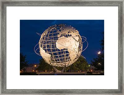 Unisphere Nights Framed Print